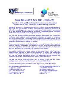 Agar Press Release 25th June 2014