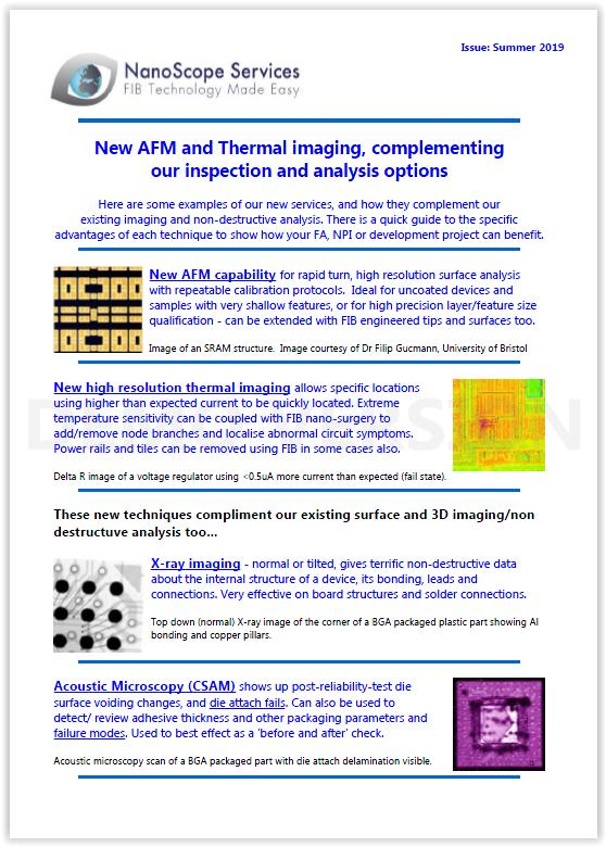 E-Newsletter Summer 2019 - NanoScope Services Ltd®